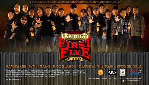 T5, Tanduay Rhum First Five, 2013 concerts, gloc 9, kamikazee, parokya ni edgar, rico blanco, sponge cola, tanduay first five 2013 bands, tanduay first five 2013 lineup, tanduay first five concert tour schedule, tanduay first five concerts 2013, tanduay rhum, tanduay rhum first five, tanduay rhum first five 2013 bands, wolfgang, Tanduay First Five, Concert,Schedule, OPM, Latest OPM Songs, OPM Songs, Original Pinoy Music, Tanduay First Five Schedule