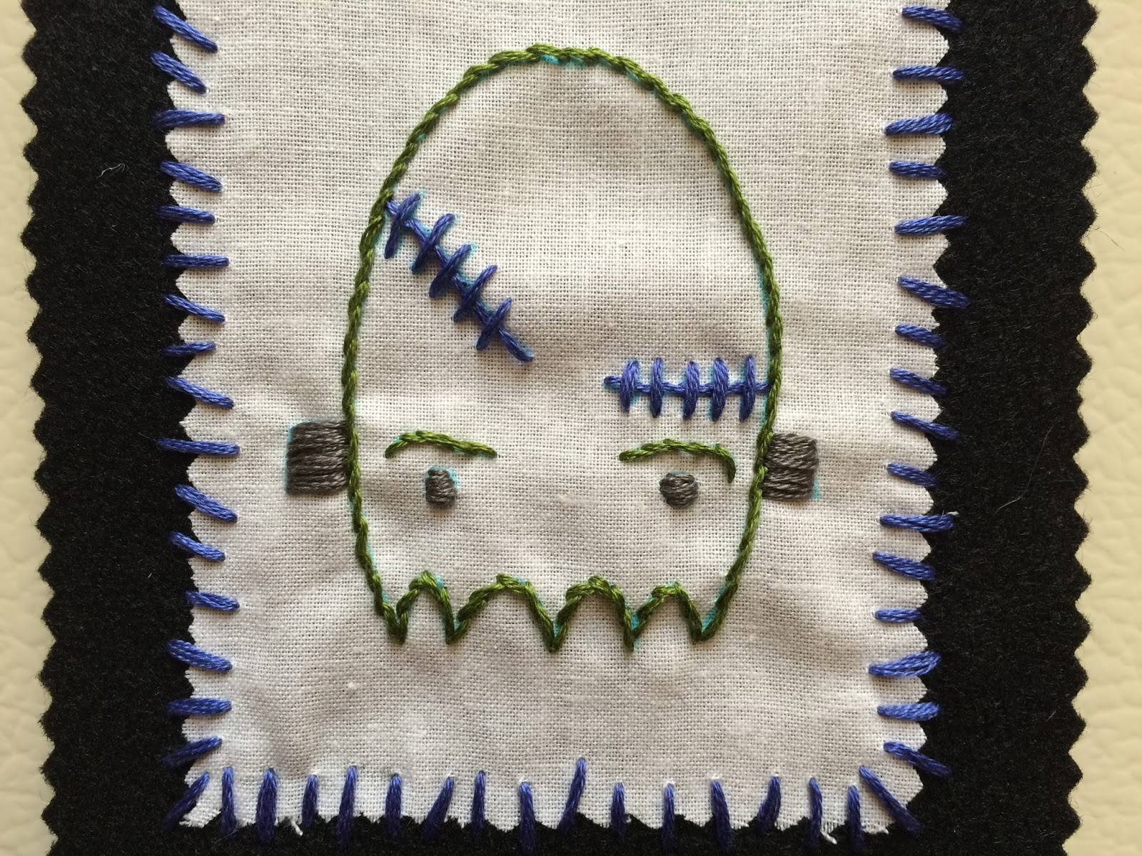 halloween ghost embroidery pattern