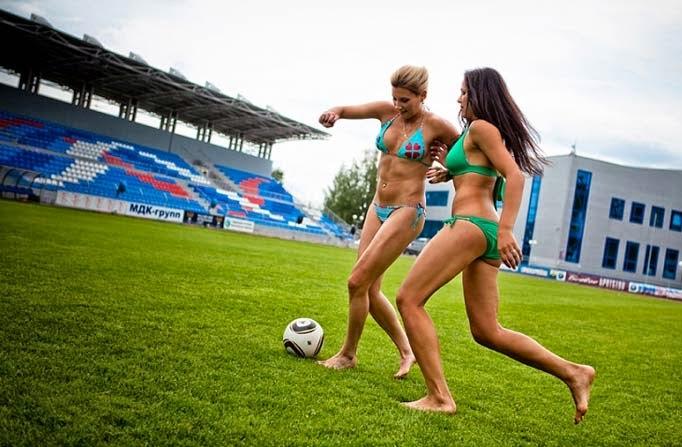 fc rossiyanka Sepakbola Wanita bikini