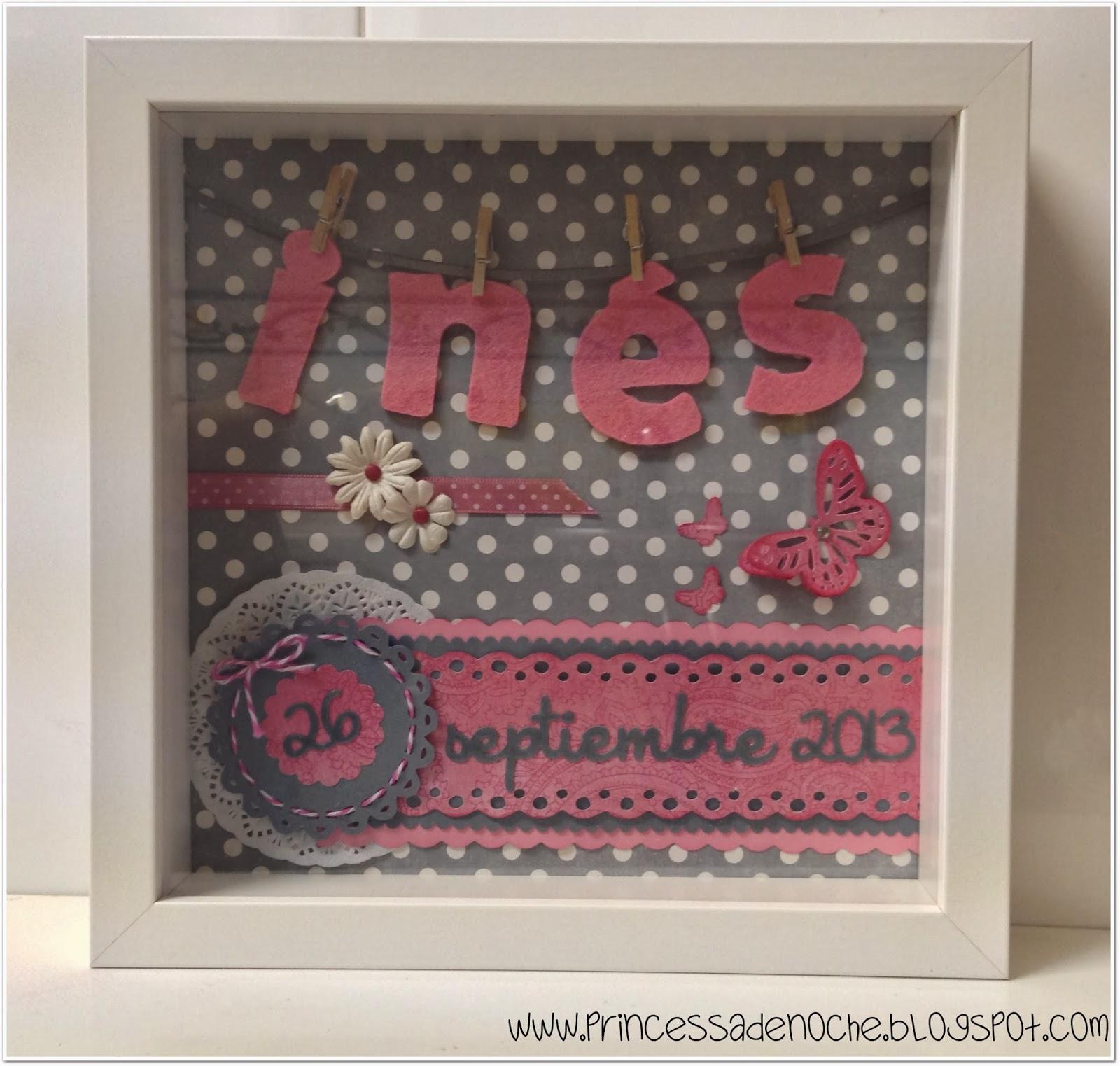 Princessadenoche nombre en fieltro para colgar y cuadro con nombre para bebes - Cuadros fotos personalizados ...