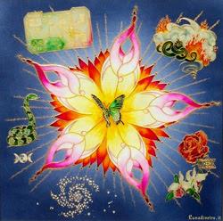 Progetto vajra perle nel tempo dipinti art gallery incontri meditazione contemplazione su vetro anima