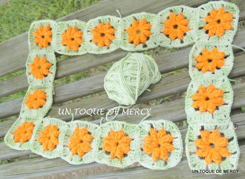 Un toque de mercy alfombra de crochet con hilo de algodon for Alfombras de hilo