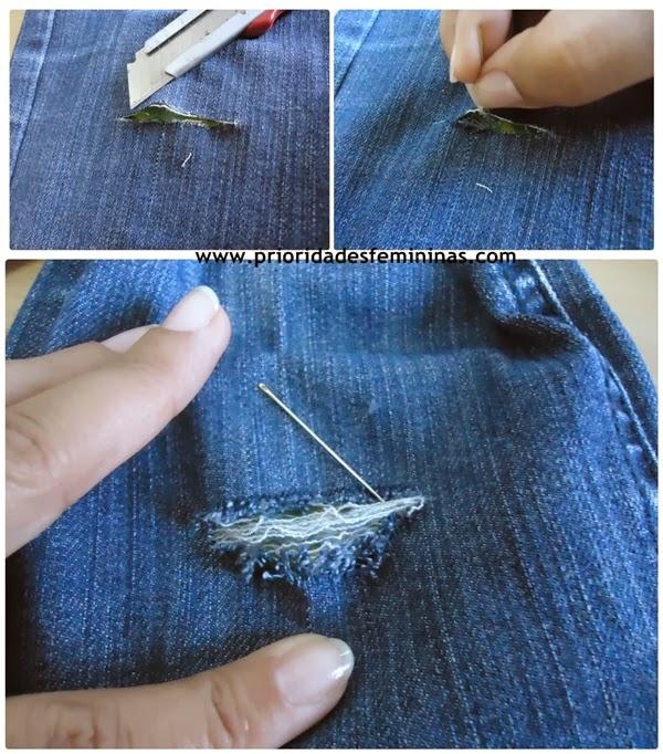 estilete desfiar roupa jeans