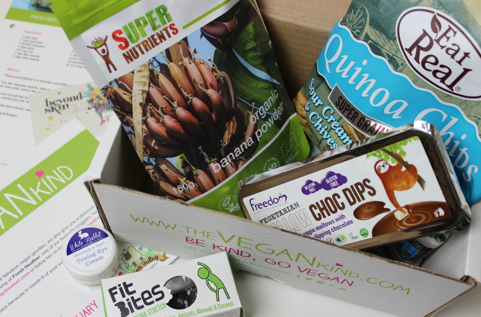 A picture of February 2015 The Vegan Kind Box