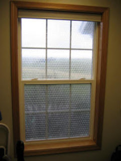 bubble wrap, window insulation, tj's green adventure