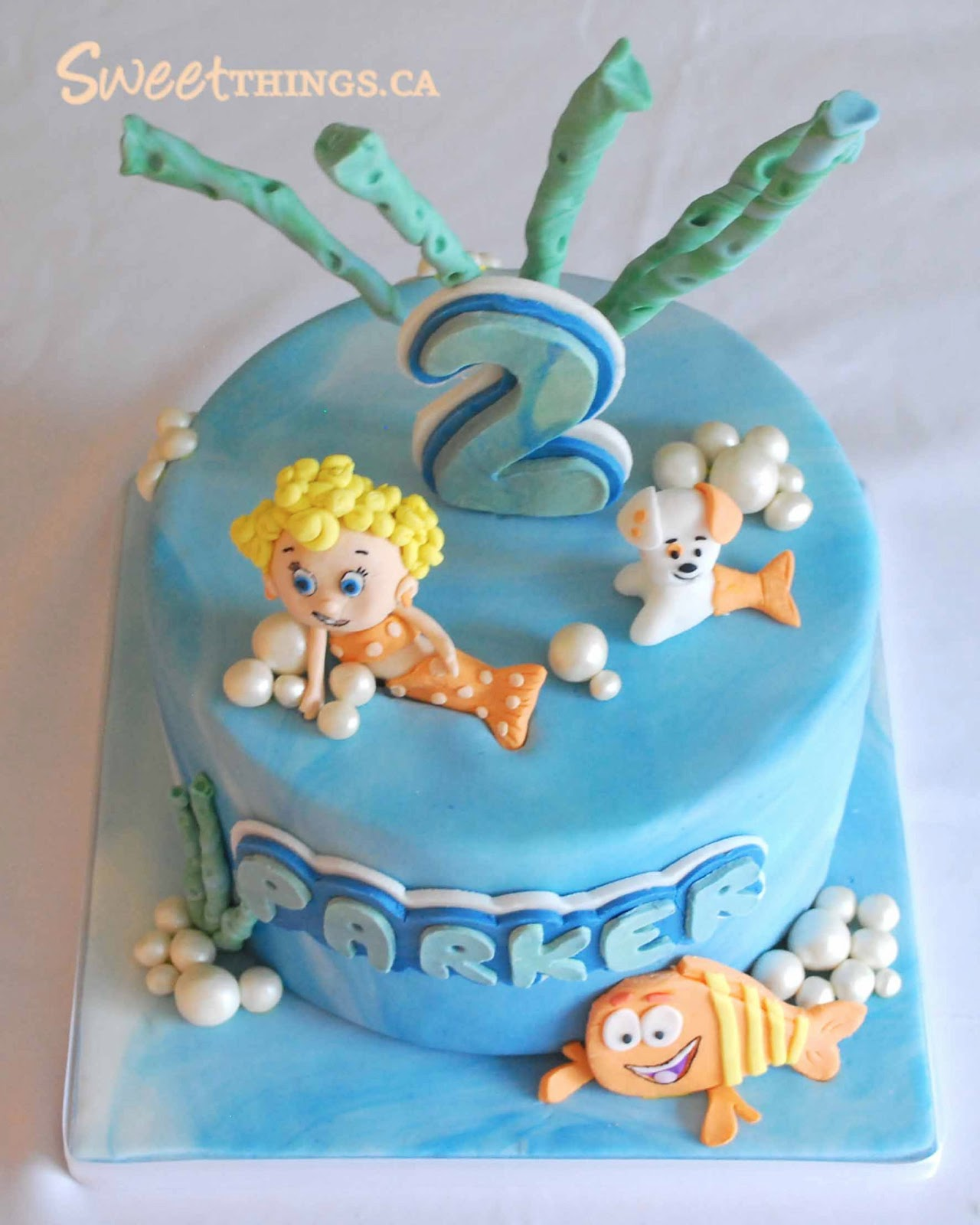 sweetthings 2nd birthday cake bubble guppies cake