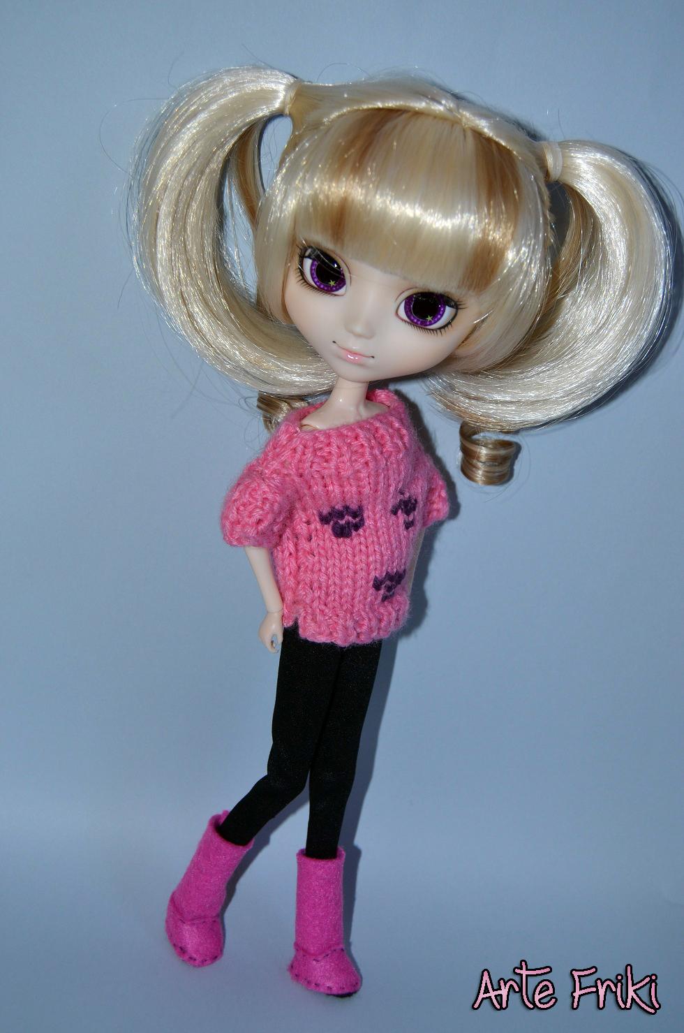 botas de fieltro para pullip blythe barbie felt boots patrón pattern