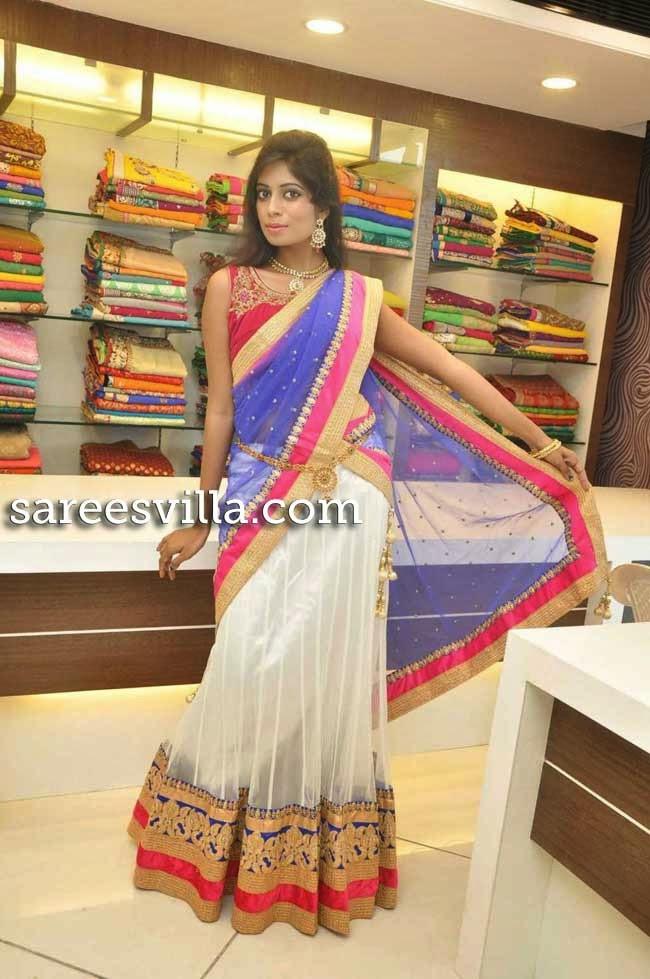 Model Mounika Reddy in Half Saree