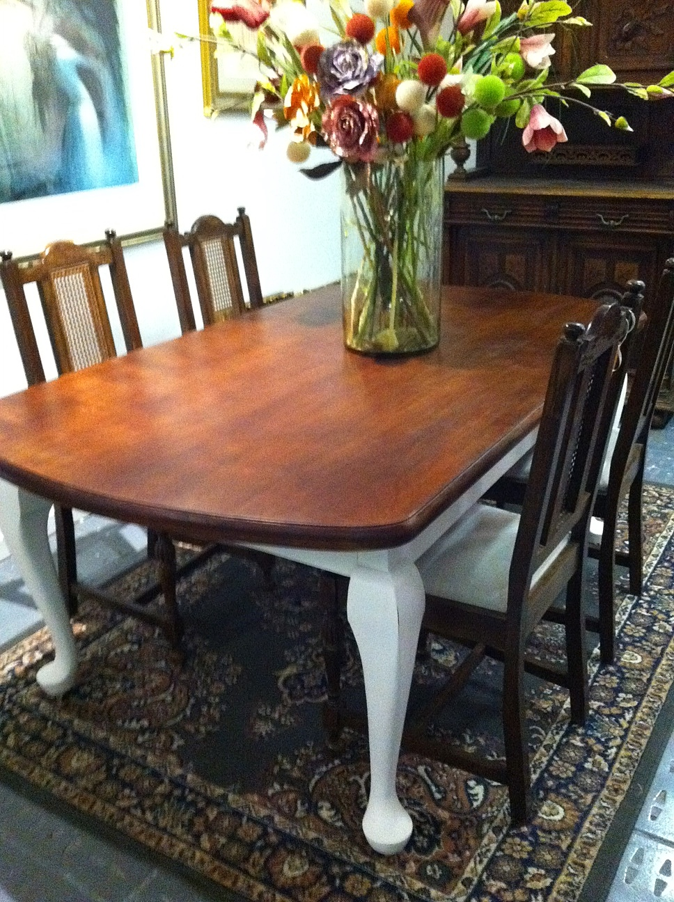 Lilyfield Life Antique Dining Table Makeover