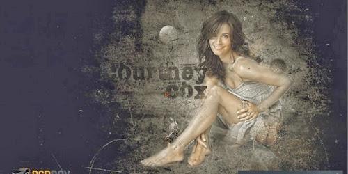 Papel de parede editável - Courtney Cox PSD Grátis
