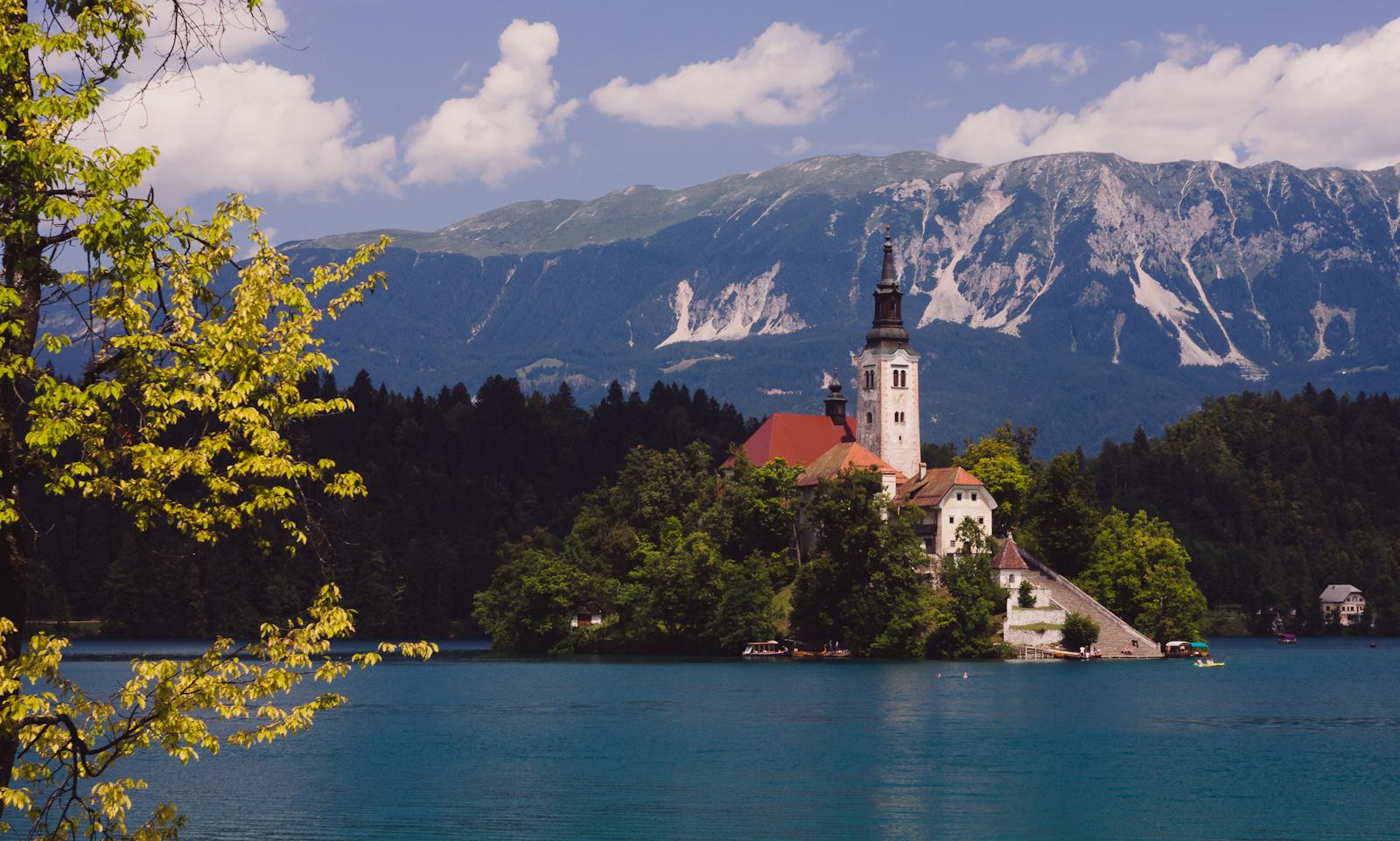 Słowenia, Jezioro Bledzkie. Lato. fot. Łukasz Cyrus
