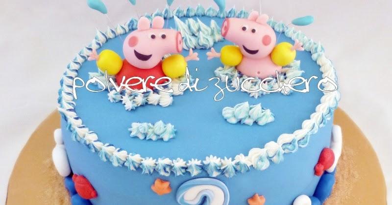 Torta peppa pig george polvere di zucchero cake design for Decorazione torte e cupcake