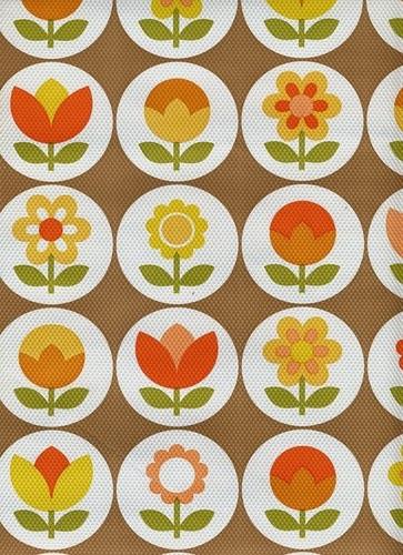 Fashion promotion blog 1970s colour palettes patterns wallpapers fabrics - Papier peint annee 70 ...