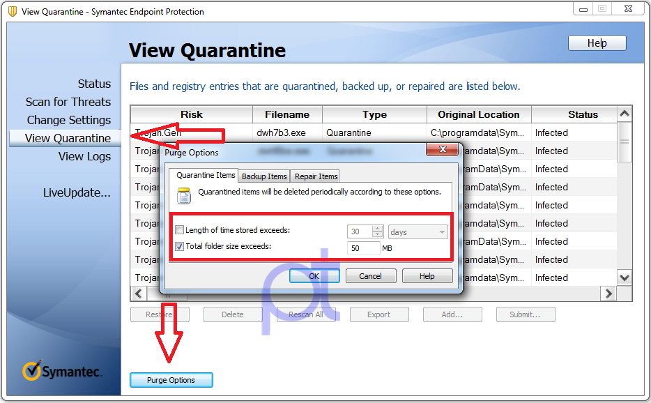 how to delete quarantined files malwarebytes