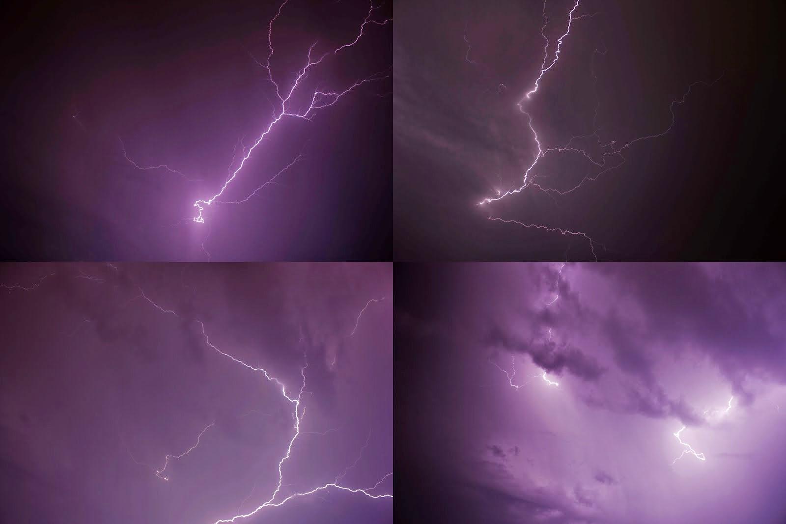 Fulmini durante il temporale sopra la mia casa a verona