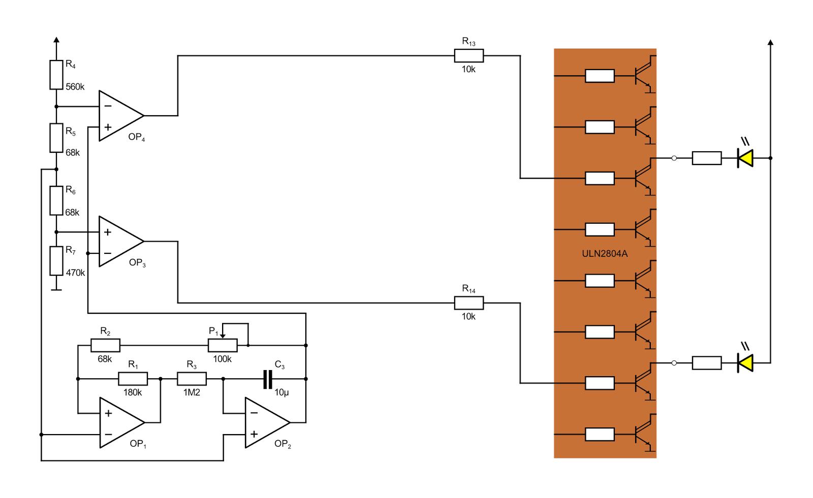 Modellbahn-Technik-Blog: Ampelsteuerung mit Operationsverstärkern