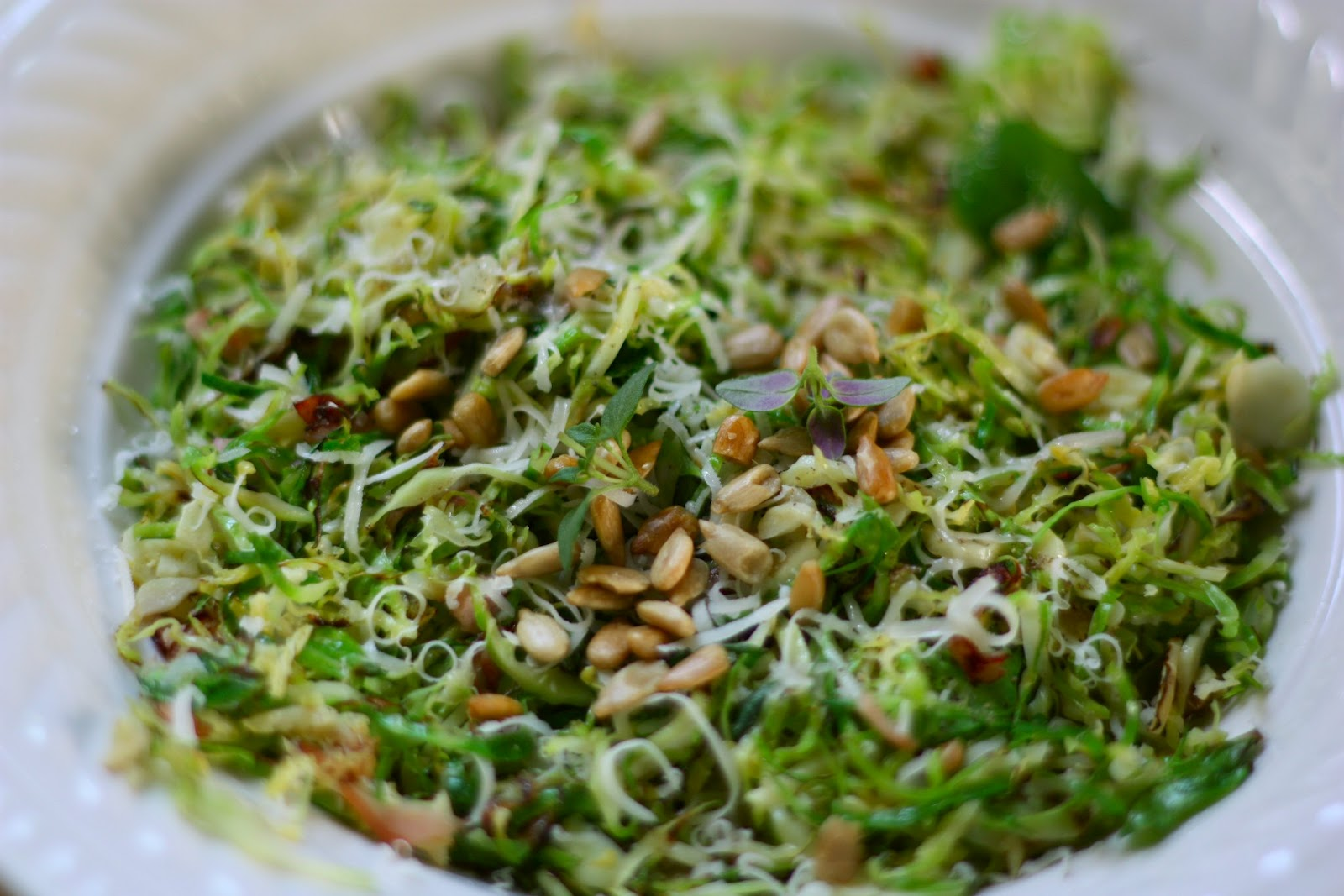 Sauteed Shredded Brussels Sprouts with Ham | Low-Carbing It