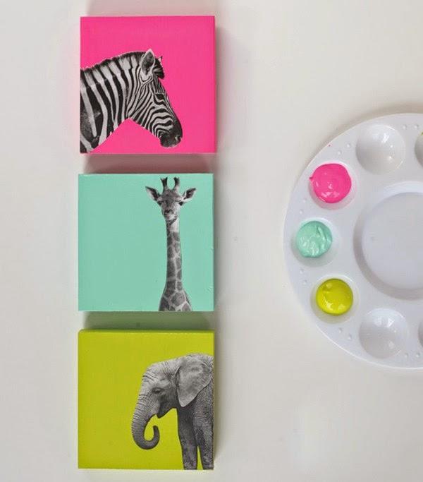 C mo hacer unos cuadros decorativos para ni os mimundomanual - Como hacer fotos a bebes en casa ...