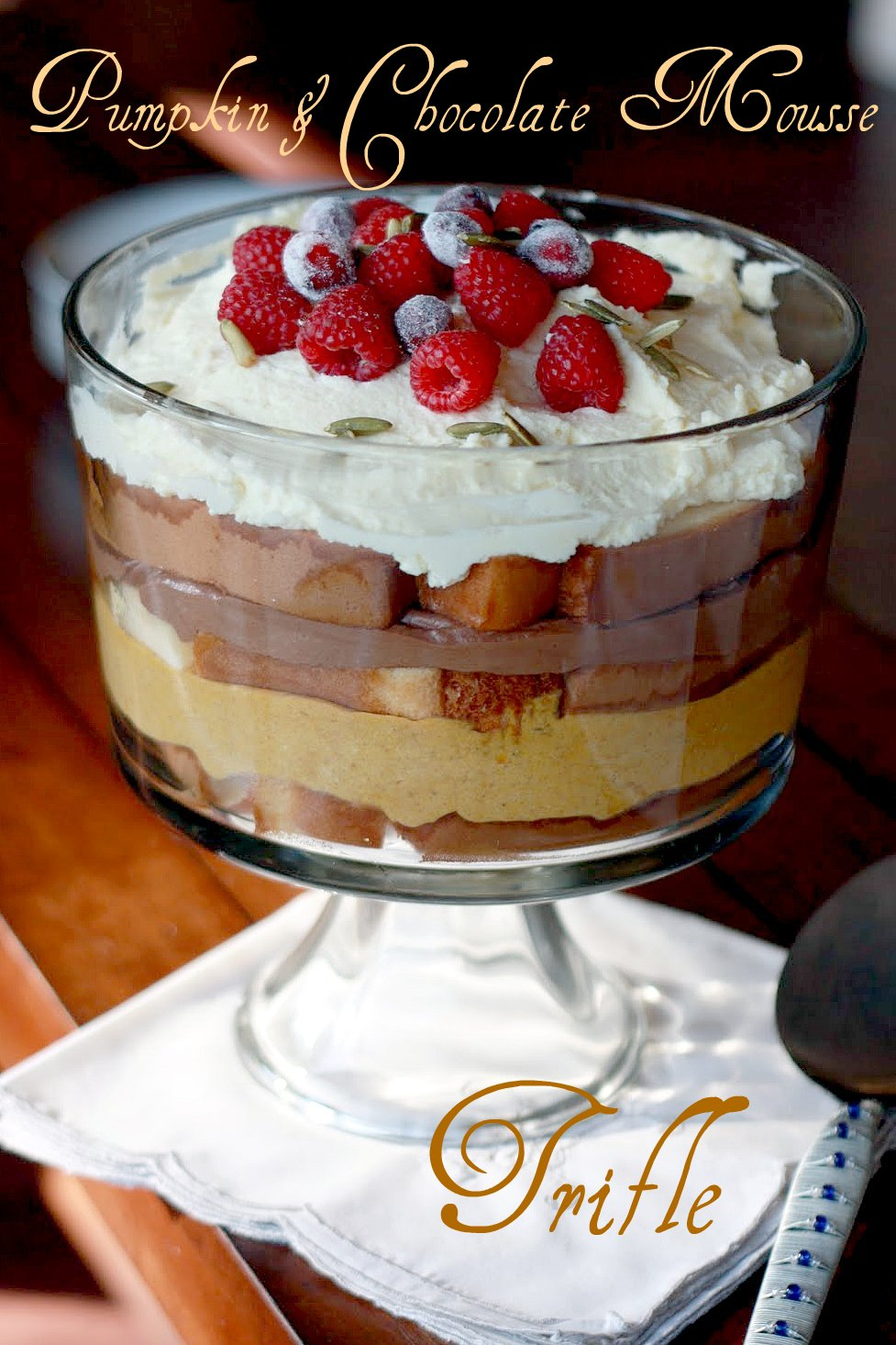 Modern Vintage Coastal...: Pumpkin and chocolate mousse trifle...
