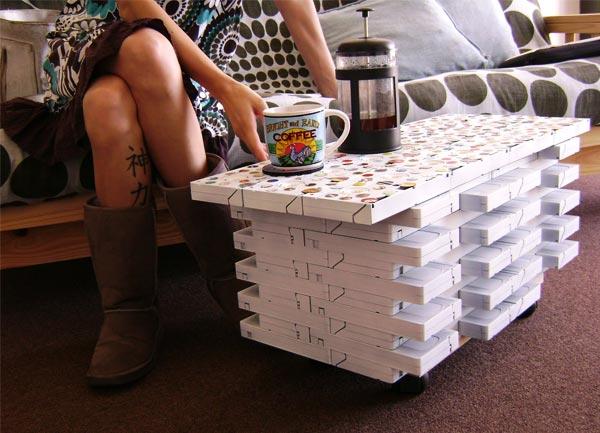 DIY Decoracao: Reciclagem: Fita k7, VHS, CD, discos, teclados e