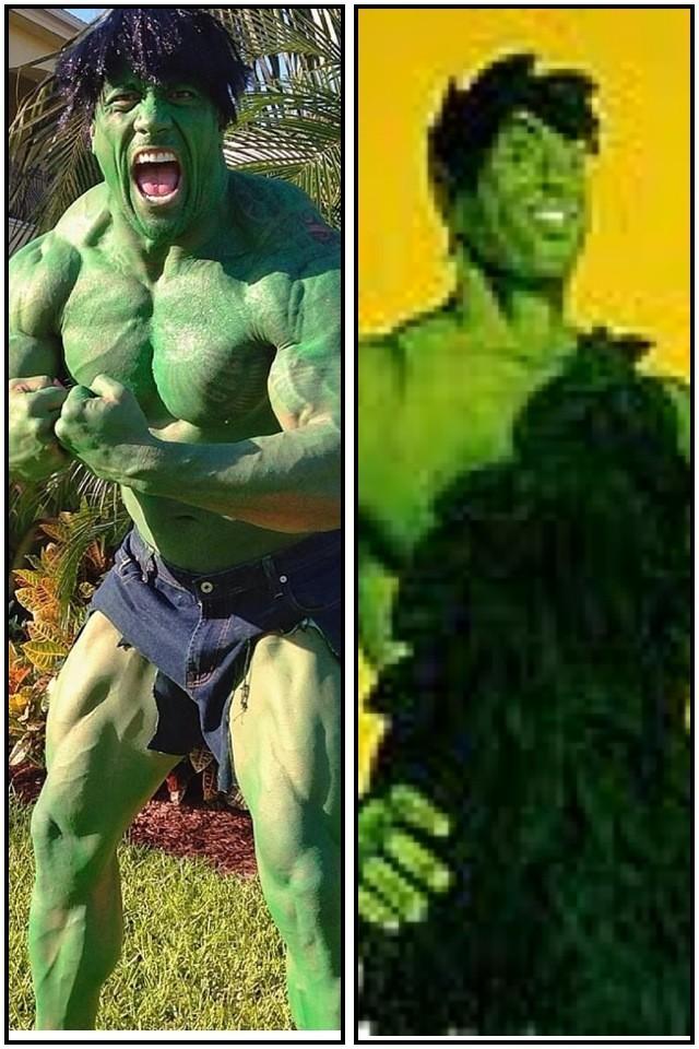 سي ام بانك يسخر من تنكر ذا روك ويتهمه بمحاولة إخافته  Punk+rock+green+man