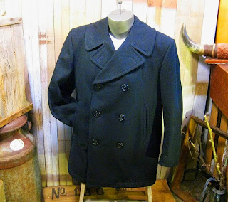 vintage Nautical Navy wool Pea Coat