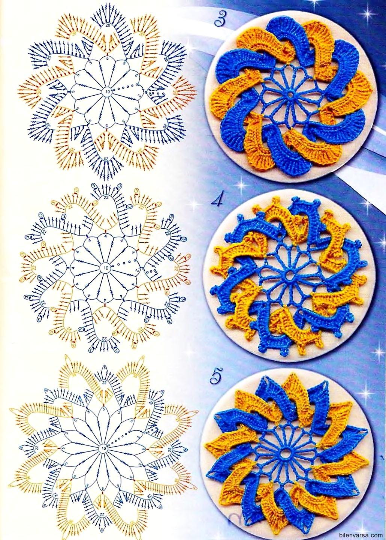 TRICO y CROCHET-madona-mía: Pastilla redonda calada tejida a crochet,