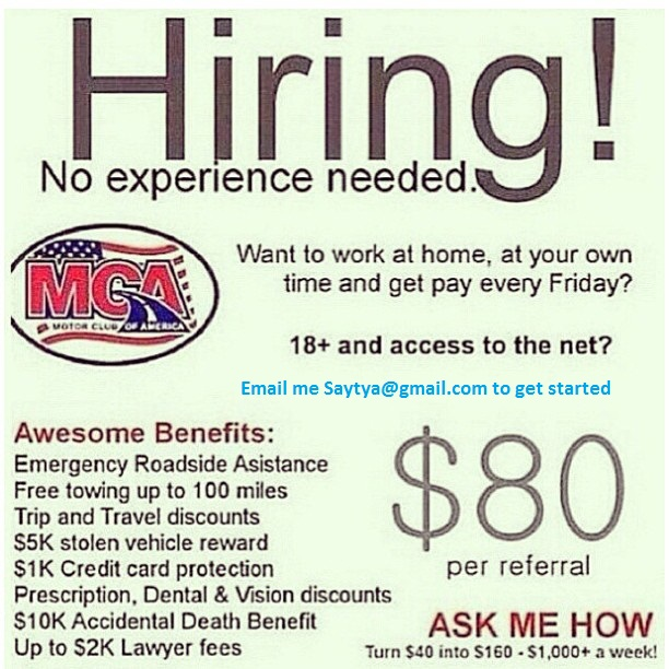 Motor club of america sign up benefits mca money pics for Motor club of america dental discounts