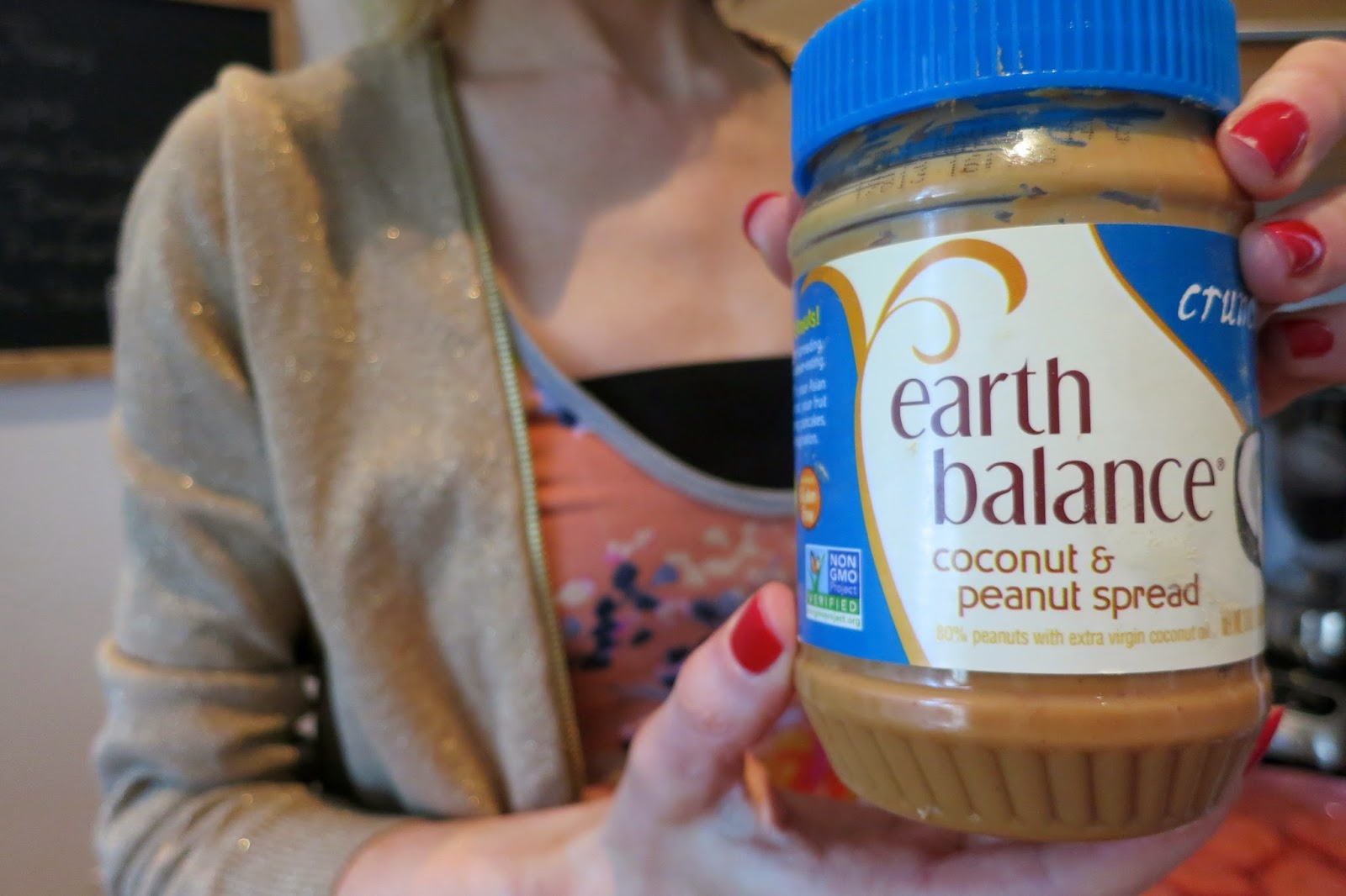 coconut & peanut spread, earth balance, peanut butter