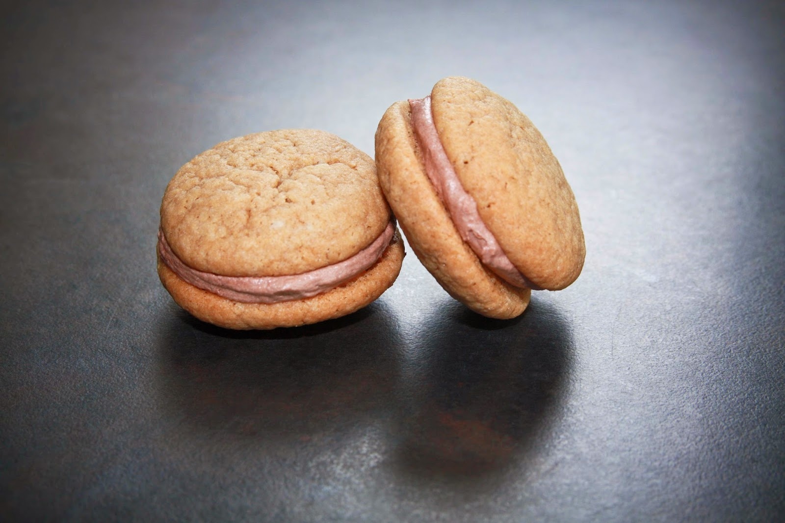 2 coffee biscuits, sandwiched with chocolate buttercream