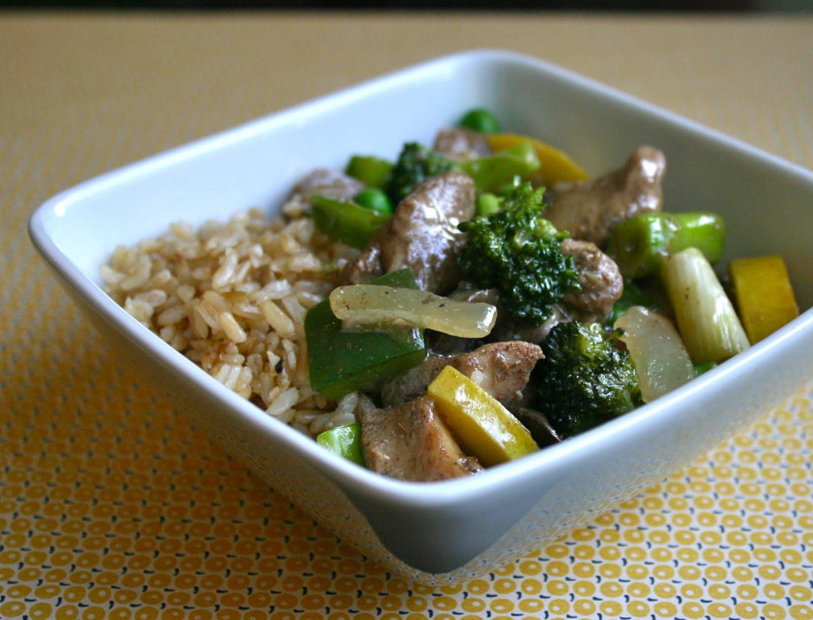 My Retro Kitchen: Chicken and Summer Vegetable Stir-Fry