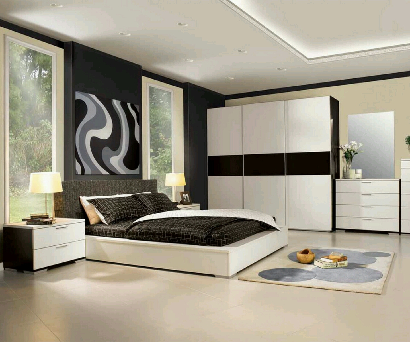 Modern luxury bedroom furniture designs ideas.  Vintage Romantic Home