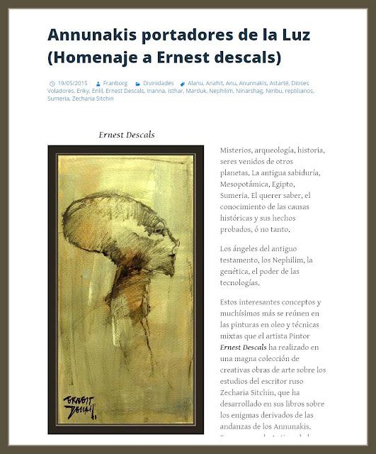 ANUNNAKI-ARTE-PINTURAS-COLECCION-HOMENAJE-ARTISTA-PINTOR-ERNEST DESCALS