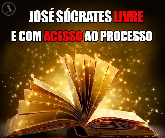 Imagem de um livro mágico - José Sócrates livre e com acesso ao Processo
