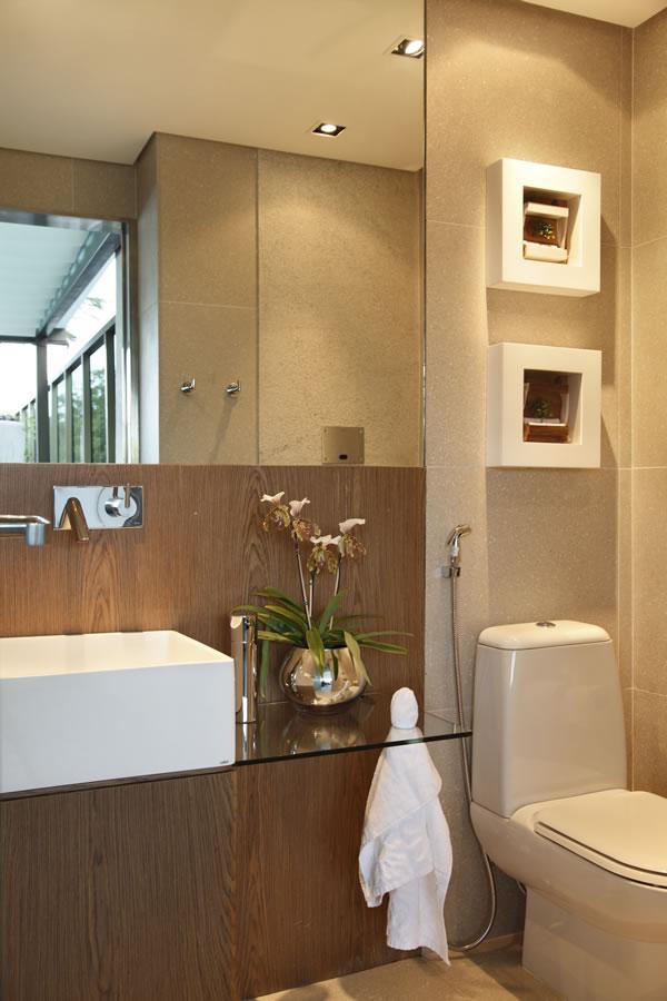 Banheiros pequenos modernos 4 estilos 25 fotos decor for Fotos lavabos