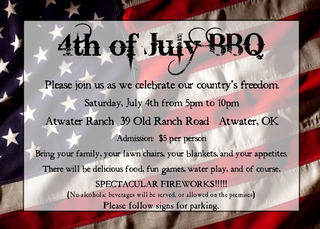 Bear River Photo Greetings 4th Of July Party Invitation