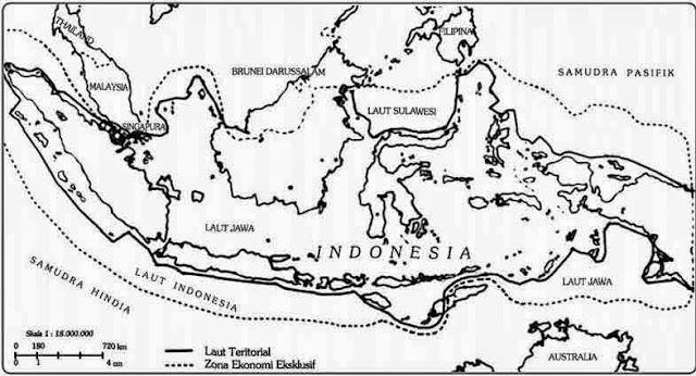 Luas dan bentuk wilayah negara Indonesia
