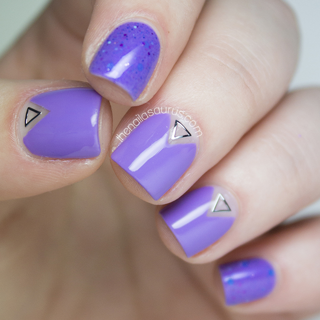 Negative Triangles with NYC Lavender Blossom - The Nailasaurus | UK ...