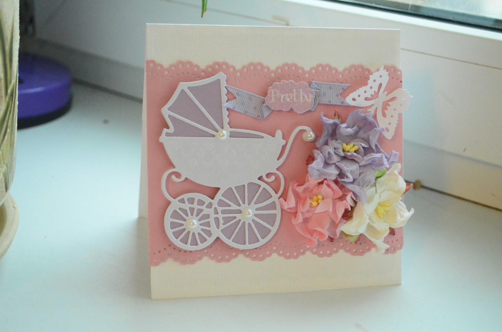 Скрап открытки рождение дочери
