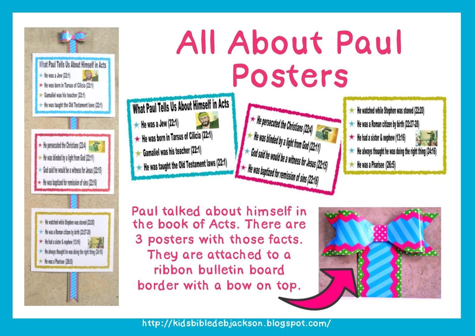 bible fun for kids apostle paul bulletin boards