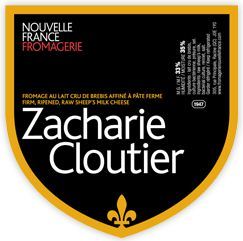 Fromagerie Nouvelle France's Zacharie Cloutier label