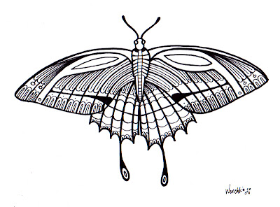 click the pic to enlarge right click save as to print and color - Color Butterfly 2