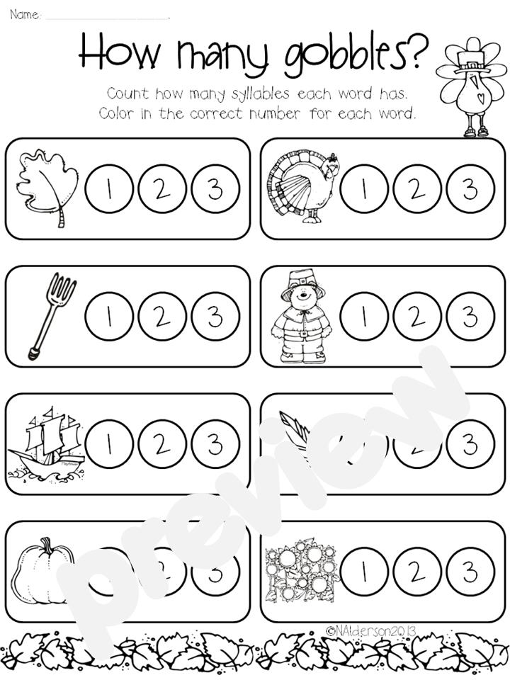 Kindergarten homework packet