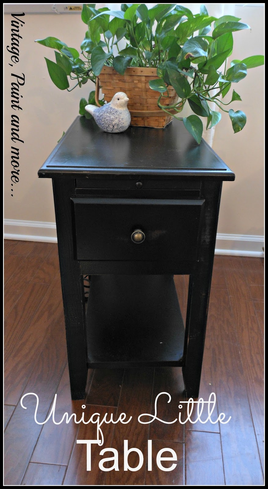 a small side table with built in electrical outlets and USB ports