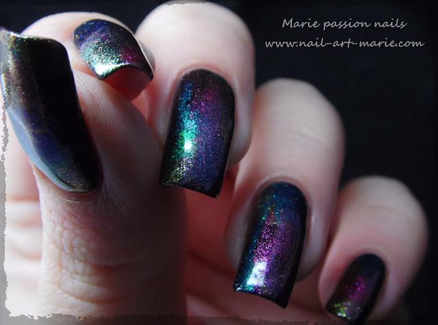 Nail art aurore boréale6