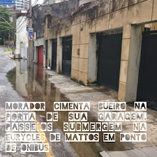 Esta é a situação após chuva de qualquer intensidade na rua Eurycles de Mattos