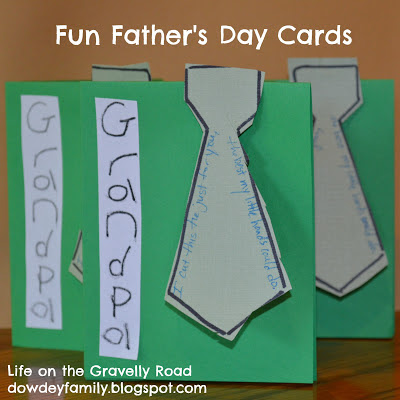 Father's Day Cards for Grandpas Tie