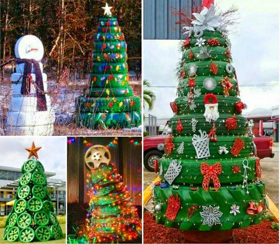 Ideas & Products: Tyre Christmas Trees