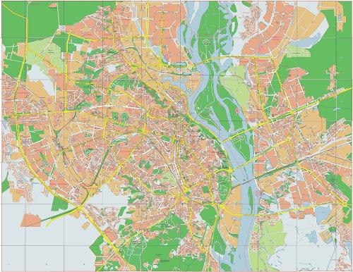 Mapa da cidade de Kiev – Ucrânia