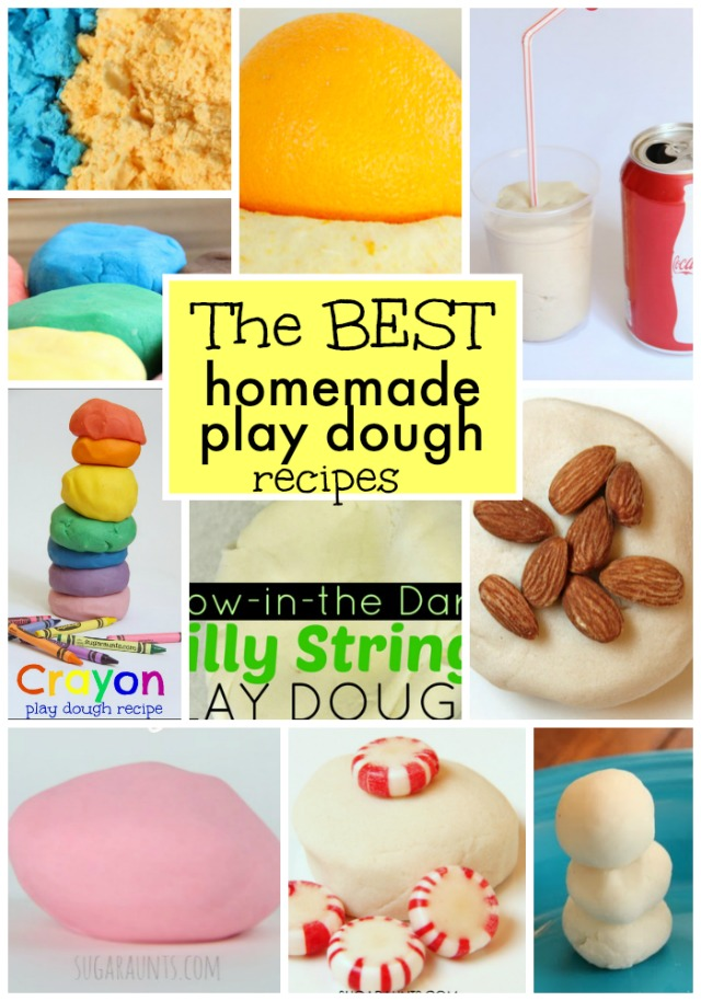Creative and fun homemade play dough recipes. These are the best for kids!